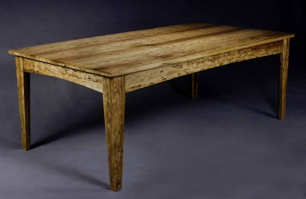 On the Straight Table (Figured Blackbutt) - Bim Morton